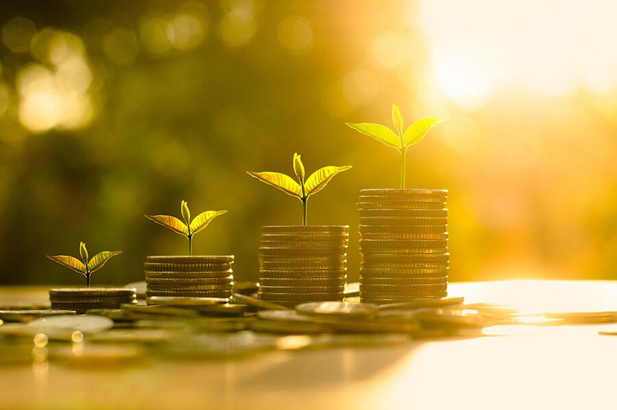 croissance-monétaire-réussite-commerciale-pile-de-pèces