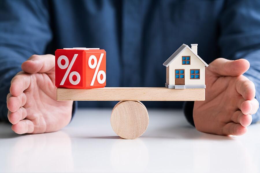 équilibre-entre-les-taux-et-l'achat-d'-une-maison